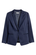 H&M+ Single-breasted jacket - Dark blue - Ladies | H&M CN 2