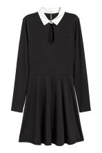 Ribbed dress - Black - Ladies | H&M CN 2