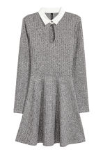 Ribbed dress - Grey - Ladies | H&M GB 2