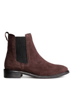 Suede Chelsea boots - Dark brown - Ladies | H&M CN 1