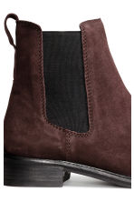 Suede Chelsea boots - Dark brown - Ladies | H&M CN 4