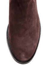 Suede Chelsea boots - Dark brown - Ladies | H&M CN 3