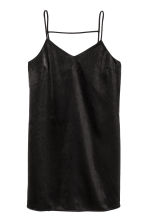 Satin dress - Black - Ladies | H&M GB 2