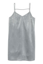 Satin dress - Silver - Ladies | H&M CN 2
