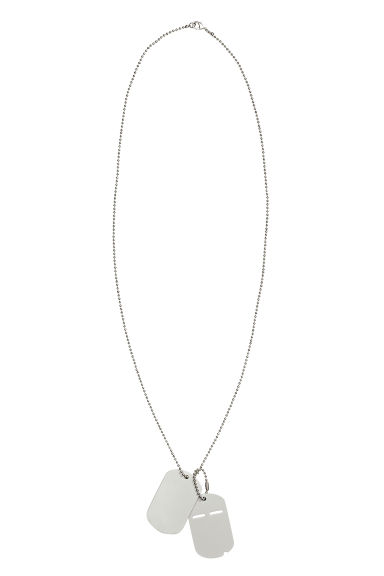 Long necklace with pendants - Silver - Men | H&M CN 1