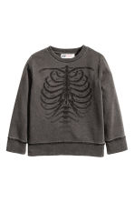 Washed look sweatshirt - Black washed out - Kids | H&M CN 2