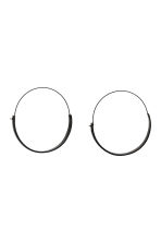 Oval earrings - Black - Ladies | H&M CN 1