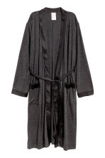 Jersey dressing gown - Dark grey - Ladies | H&M CN 2