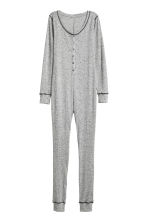 Jersey jumpsuit - Grey marl - Ladies | H&M CN 2
