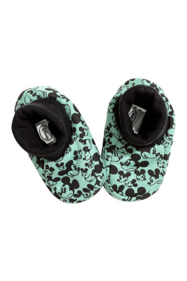 Bootees - Mint green/Mickey Mouse - Kids | H&M CN 1