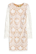 Lace dress - Natural white -  | H&M CN 2