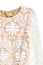 Lace dress - Natural white -  | H&M CN 3