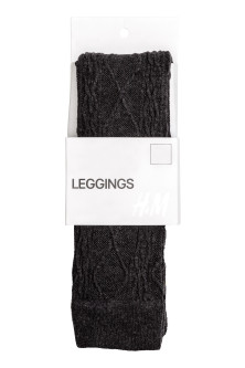 Cable-knit leggings