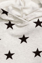 Marled hooded top - Light grey marl/Stars - Kids | H&M CN 3