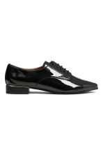 Patent Derby shoes - Black - Ladies | H&M CN 2