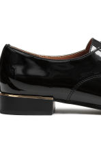 Patent Derby shoes - Black - Ladies | H&M CN 5