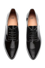 Patent Derby shoes - Black - Ladies | H&M CN 3