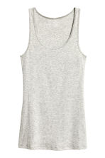 Jersey vest top - Light grey marl - Ladies | H&M CN 2