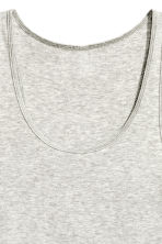 Jersey vest top - Light grey marl - Ladies | H&M CN 3