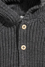 Soft merino wool cardigan - Dark grey marl - Kids | H&M CN 2