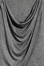 Draped jersey top - Dark grey marl -  | H&M CN 3