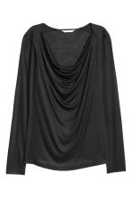 Draped jersey top - Black - Ladies | H&M CN 2