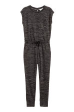 Fine-knit jumpsuit - Dark grey marl - Kids | H&M CN 2