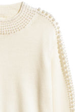 Pullover in lana con perline - Bianco naturale - DONNA | H&M IT 3