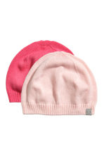 2-pack hats - Light pink - Kids | H&M CN 1