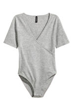 Wrapover body - Grey marl - Ladies | H&M CN 2