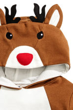 Christmas sweatshirt - Brown/Reindeer - Kids | H&M CN 3