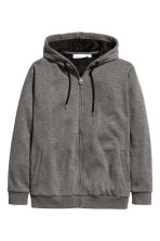 Fleece-lined hooded jacket - Dark grey marl - Ladies | H&M CN 2