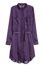 Chemisier in satin - Viola scuro - DONNA | H&M IT 2