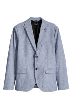 Cotton jacket Slim fit - Blue -  | H&M GB 2