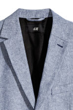 Cotton jacket Slim fit - Blue -  | H&M GB 3
