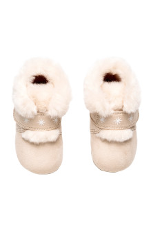 Pile-lined slippers