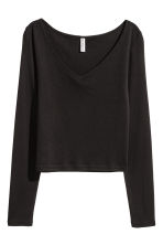 Top in jersey con scollo a V - Nero - DONNA | H&M IT 2