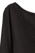 Top in jersey con scollo a V - Nero - DONNA | H&M IT 3