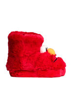 Soft slippers - Red/Sesame Street - Kids | H&M CN 2