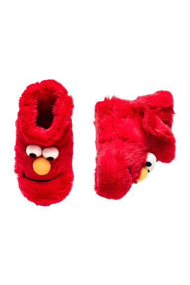 Soft slippers - Red/Sesame Street - Kids | H&M CN 1