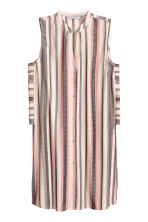 Jacquard-weave tunic - Light beige/Striped - Ladies | H&M GB 2