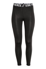 Leggings con bande in mesh - Nero - DONNA | H&M IT 2