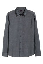 Shirt with a nepped texture - Dark grey - Men | H&M CN 2