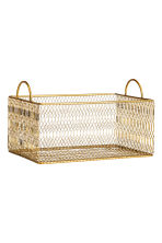 Metal storage basket - Gold - Home All | H&M GB 2