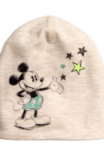 Hat and triangular scarf - Light beige/Mickey Mouse - Kids | H&M CN 3