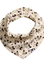 Hat and triangular scarf - Light beige/Mickey Mouse - Kids | H&M CN 2