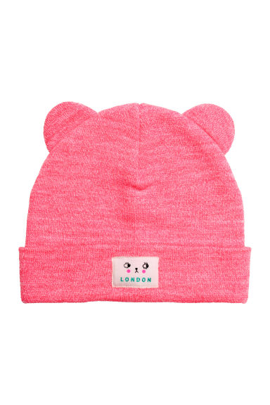 Hat with ears - Neon pink marl - Kids | H&M CN 1