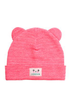 Hat with ears - Neon pink marl -  | H&M CN 1