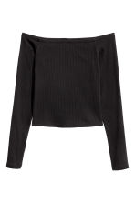 Off-the-shoulder top - Black - Ladies | H&M 3