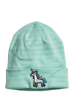 Fine-knit hat - Turquoise/Unicorn - Ladies | H&M CN 1